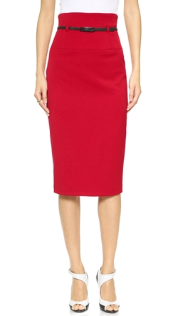 High Waisted Pencil Skirt by Black Halo in Suits