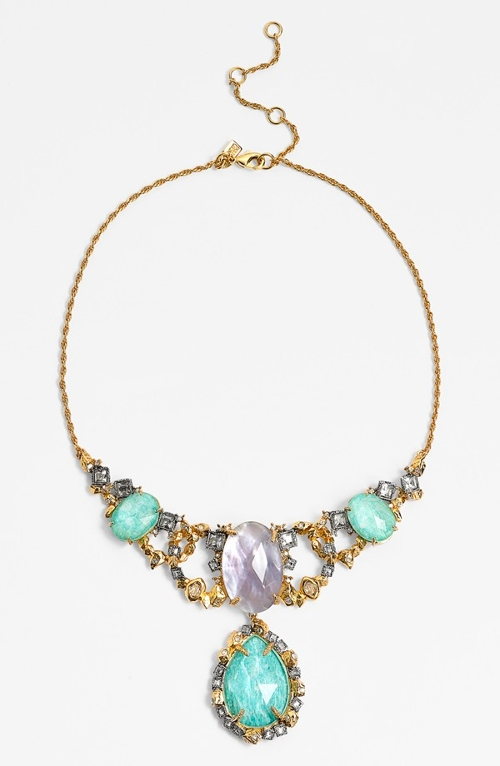 'Elements' Bib Necklace by Alexis Bittar in Barely Lethal