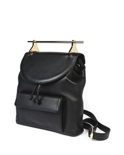 Grained Leather Drawstring Backpack by M2Malletier in Keeping Up With The Kardashians