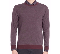 Merino Wool Brick Pattern Sweater by Saks Fifth Avenue Collection in New Girl