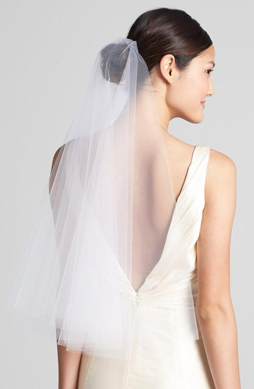 'Madeline - Crystal' Two Tier Veil by Wedding Belles New York in The Other Woman