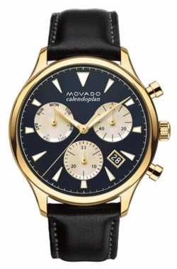 Heritage Stainless Steel and Leather Watch by Movado in The Bachelorette