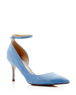Suede Ankle Strap Pumps by Ivanka Trump in Fuller House