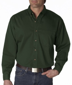 Mens L/S Denm Shirt by Ultraclub in Paper Towns