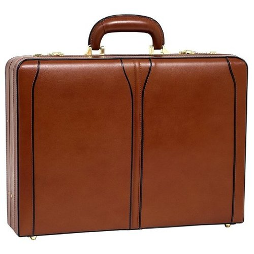 Turner Leather Expandable Attache Case by McKlein USA in Unfinished Business