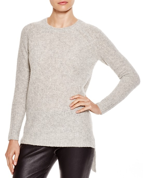 Asymmetric Hem Bouclé Sweater by C by Bloomingdale's in GoldenEye
