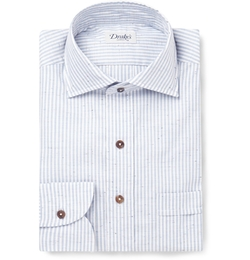 Striped Slub Cotton Shirt by Drake's in Life