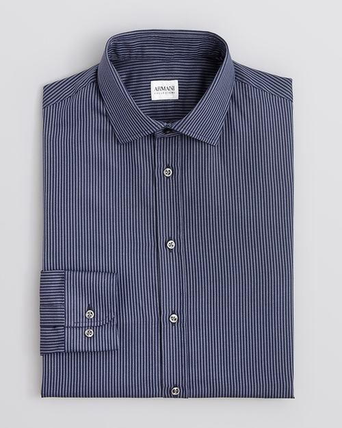 Stripe Dress Shirt by Armani Collezioni in The Mindy Project