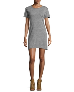 Short-Sleeve Knit T-Shirt Dress by Current/Elliott in The Mindy Project