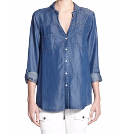 Brady Chambray Shirt by Joie in Quantico