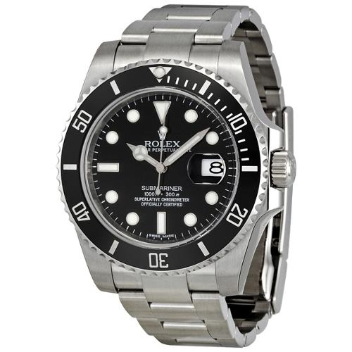 Submariner Black Dial Stainless Steel Automatic Watch by Rolex in Million Dollar Arm