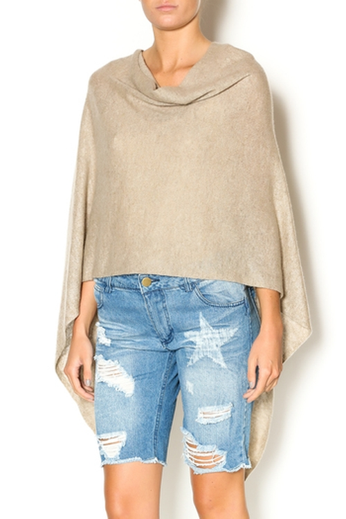 Cashmere Poncho Wrap by 27 Miles Malibu in Keeping Up With The Kardashians - Season 11 Episode 7
