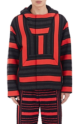 Baja Striped Hooded Jacket by Alexander Wang in Empire