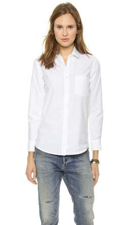 Untwisted Boyfriend Shirt by Steven Alan in Unfinished Business
