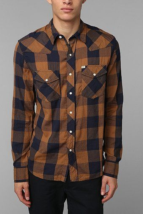 Salt Valley Buffalo Plaid Western Shirt by Urban Outfitters in The Big Bang Theory - Season 9 Episode 6