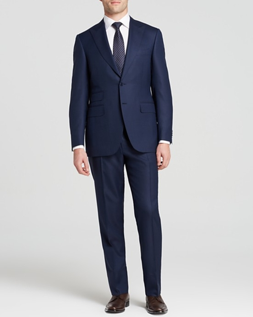Regular Fit Textured Suit by Canali in Black-ish - Season 2 Episode 5