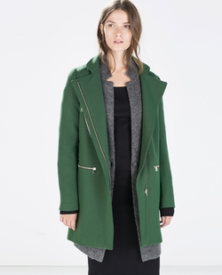 Zip Buckle Coat by Zara in The Flash
