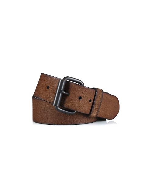 Distressed Leather Wide Belt by Polo Ralph Lauren in The Hangover