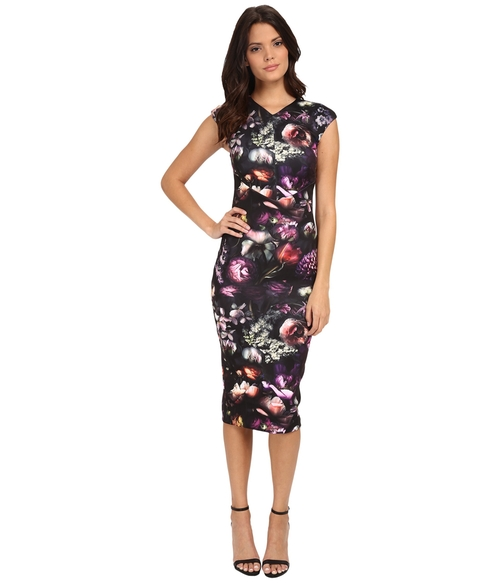 Shadow Flora Bodycon Dress by Ted Baker in Rosewood - Season 1 Episode 9