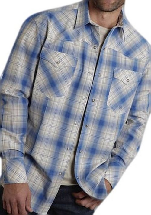 Men's Sandy Shore Plaid Western Shirt by Roper in If I Stay