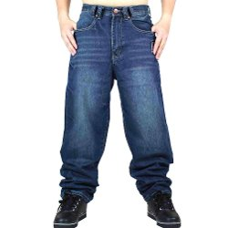 Denim Baggy Jeans by Pizoff in Get Hard