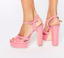 Penny Pink Platform Heeled Sandals by Public Desire in Scream Queens