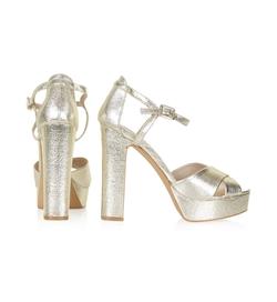 LOCKET Cross-Strap Platform Sandals by Topshop in Scream Queens