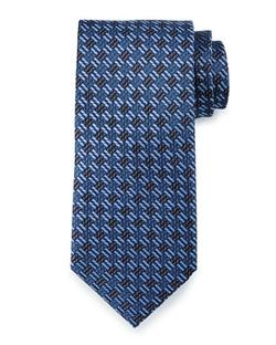 Textured Basketweave Silk Tie by Brioni in Suits