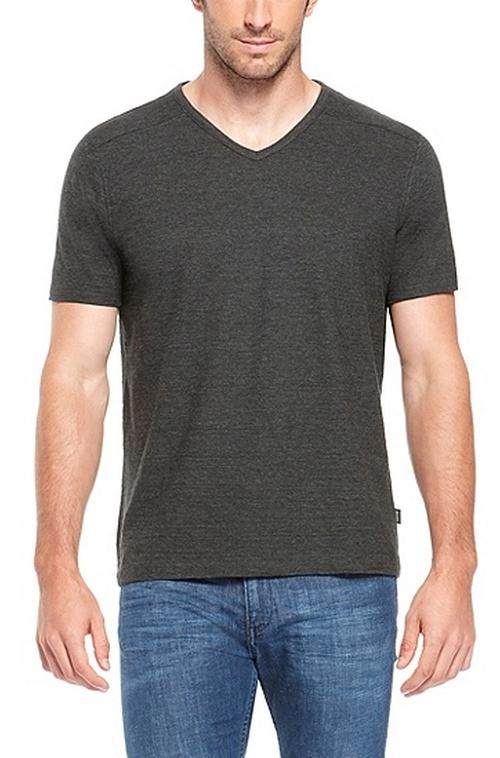 'Eraldo' Pima Cotton V-Neck T-Shirt by Boss in Ballers - Season 1 Episode 6