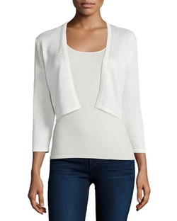 Sequined Silk-Blend Shrug by Neiman Marcus Cashmere Collection in Keeping Up With The Kardashians