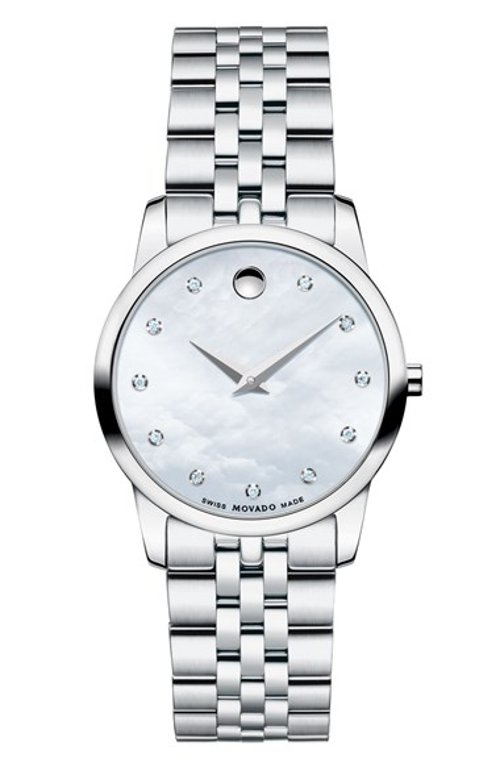 Museum Diamond Dial Bracelet Watch by Movado in Unfinished Business