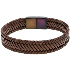 Braided Leather Bracelet by Link Up in Modern Family