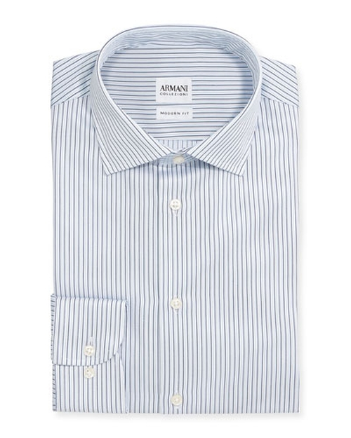 Striped Dress Shirt by Armani Collezioni in The Departed