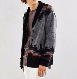 UO Patterned Shawl Cardigan by Urban Outfitters in New Girl