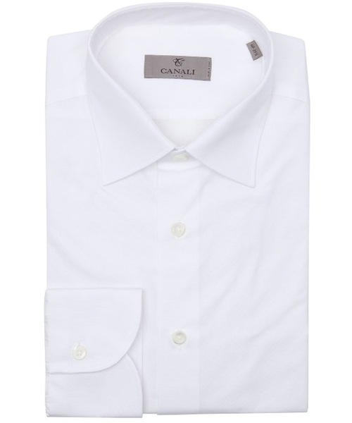 Cotton Point Collar Dress Shirt by Canali in London Has Fallen