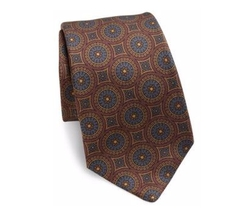 Printed Silk Tie by Kiton in The Blacklist