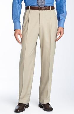 Double Reverse Pleated Wool Twill Trousers by Ballin in Interstellar