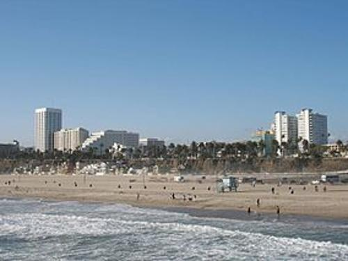 Santa Monica Beach Los Angeles County, California, USA in Wish I Was Here