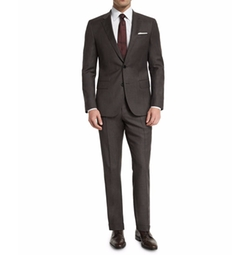 Micro-Textured Two-Piece Suit by Boss Hugo Boss in The Good Place