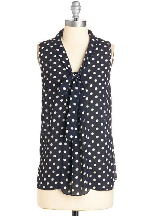 South Florida Spree Blouse by ModCloth in Spy