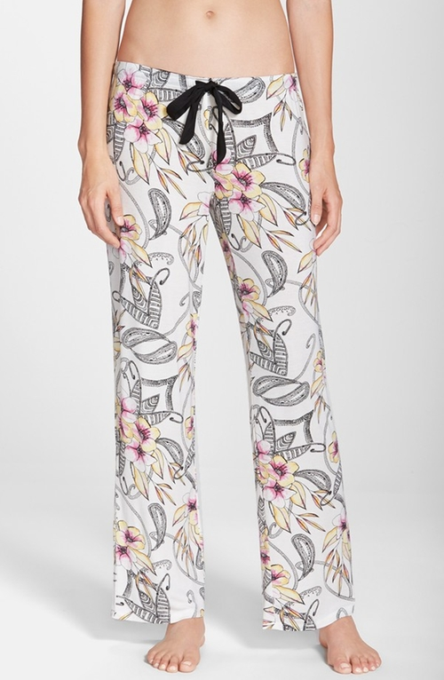 Floral Print Lounge Pants by Pj Luxe in Ricki and the Flash