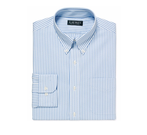Striped Dobby Dress Shirt by Lauren Ralph Lauren in Office Christmas Party