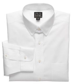 Traveler Pinpoint Solid Tab Collar Dress Shirt by Jos. A. Bank in Shutter Island