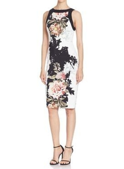 Printed Sheath Dress by Black Halo in New Girl