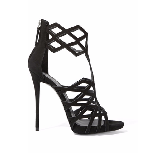Raquel Cutout Suede Sandals by Giuseppe Zanotti in Keeping Up With The Kardashians - Season 12 Episode 3