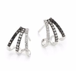 Diamond Fade Multi Huggie Earrings by EF Collection in How To Get Away With Murder