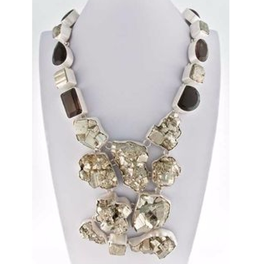 Smokey Quartz and Pyrite Necklace by Charles Albert in Gossip Girl - Series Looks