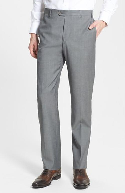 'Devon' Flat Front Wool Trousers by Zanella in The Wolf of Wall Street