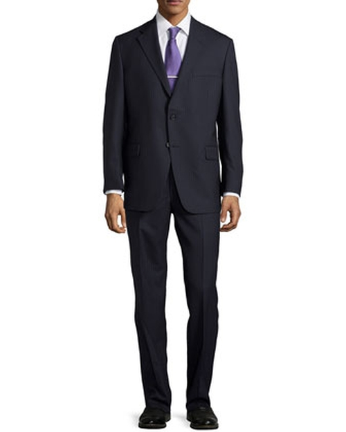 Medium-Stripe Two-Piece Suit by Hickey Freeman in Straight Outta Compton