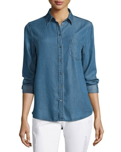 Mercer & Spring Chambray Shirt by DL 1961 Premium Denim in Animal Kingdom
